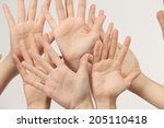 hand of the woman | Shutterstock . vector #205110418