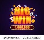 big gambling win. glowing rich... | Shutterstock .eps vector #2051148830