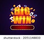 big win template. bright banner ... | Shutterstock .eps vector #2051148833