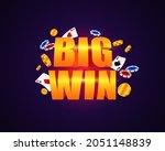 big win at casino. bright rich... | Shutterstock .eps vector #2051148839