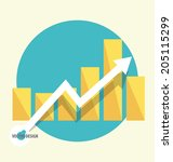 modern design graph. business... | Shutterstock .eps vector #205115299