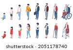 isometric people age... | Shutterstock . vector #2051178740