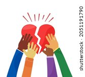 harity and community vector...   Shutterstock .eps vector #2051191790