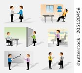 business people   isolated on... | Shutterstock .eps vector #205120456