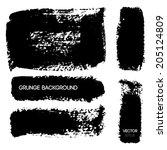 black grunge background. vector ... | Shutterstock .eps vector #205124809