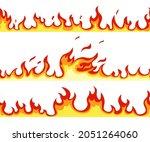 seamless fire flame. cartoon...   Shutterstock .eps vector #2051264060