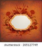 vintage orange vector... | Shutterstock .eps vector #205127749