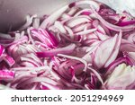 red onion in an aluminum pan ...