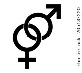male and female sex symbol  ... | Shutterstock .eps vector #205137220