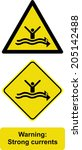 warning strong currents  | Shutterstock .eps vector #205142488