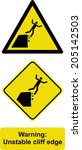 Warning Unstable Cliff Edge