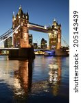 tower bridge in london | Shutterstock . vector #205143439