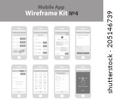 mobile app wireframe ui kit 4....
