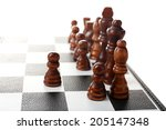 chess board with chess pieces... | Shutterstock . vector #205147348