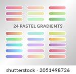 a palette of 24 pastel gradient ...