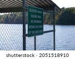 Warning Sign To Not Swim Near...
