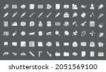 70 stationery icon set for ...