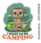 funny cute baby kitten. he asks ...   Shutterstock .eps vector #2051585846
