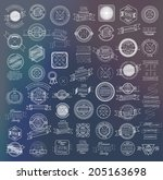 mega set of thin lineretro... | Shutterstock .eps vector #205163698