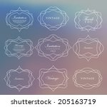 mega set of thin lineretro... | Shutterstock .eps vector #205163719