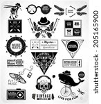 hipster label  icon  elements ... | Shutterstock .eps vector #205165900