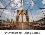 brooklyn bridge and new york... | Shutterstock . vector #205182868