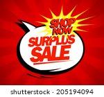 surplus sale design in pop art...
