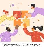 teamwork concept  team building ... | Shutterstock .eps vector #2051951936