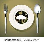 vector illustrator of the coup... | Shutterstock .eps vector #205196974