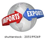 imports and exports words... | Shutterstock . vector #205199269