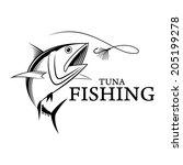 vector fishing tuna   Shutterstock .eps vector #205199278