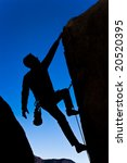 climber clinging to rock face... | Shutterstock . vector #20520395