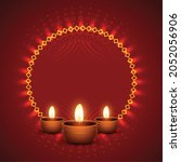 shiny diwali background with...   Shutterstock .eps vector #2052056906