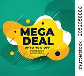 mega deal sale discount banner...   Shutterstock .eps vector #2052058886