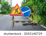 Road Signs Warning About Repair ...