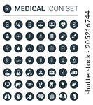 medical infographic icon set in ... | Shutterstock .eps vector #205216744