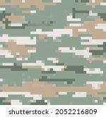 digital pixel camouflage... | Shutterstock .eps vector #2052216809