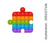 puzzle fidget pop it. trendy...   Shutterstock .eps vector #2052217136