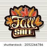 logo for fall sale  dark... | Shutterstock . vector #2052266786