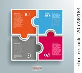 infographic with colored... | Shutterstock .eps vector #205230184