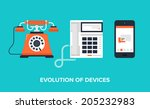flat vector illustration of... | Shutterstock .eps vector #205232983