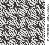 pattern with monochrome bold...   Shutterstock .eps vector #2052425300