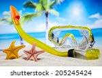 holiday beach background | Shutterstock . vector #205245424