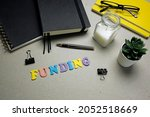 funding word made with colorful ... | Shutterstock . vector #2052518669
