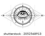 eye of providence. masonic...   Shutterstock .eps vector #2052568913