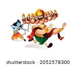 illustration of  lord rama with ...   Shutterstock .eps vector #2052578300