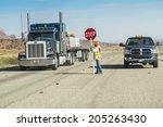 arizona usa august 9 2012 man... | Shutterstock . vector #205263430