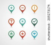 mapping pins icon | Shutterstock .eps vector #205273174