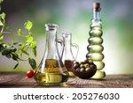fresh olive oil  | Shutterstock . vector #205276030