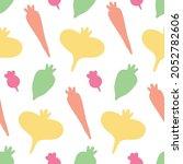 vegetable seamless pattern.... | Shutterstock .eps vector #2052782606
